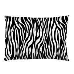Zebra Stripes Pattern Traditional Colors Black White Pillow Case by EDDArt