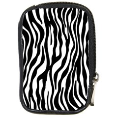 Zebra Stripes Pattern Traditional Colors Black White Compact Camera Cases by EDDArt