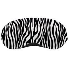 Zebra Stripes Pattern Traditional Colors Black White Sleeping Masks by EDDArt
