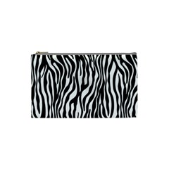 Zebra Stripes Pattern Traditional Colors Black White Cosmetic Bag (small)  by EDDArt