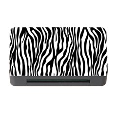Zebra Stripes Pattern Traditional Colors Black White Memory Card Reader With Cf by EDDArt