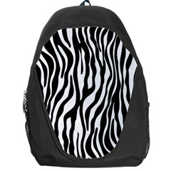Zebra Stripes Pattern Traditional Colors Black White Backpack Bag by EDDArt