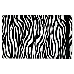 Zebra Stripes Pattern Traditional Colors Black White Apple Ipad 3/4 Flip Case by EDDArt