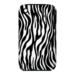 Zebra Stripes Pattern Traditional Colors Black White Iphone 3s/3gs by EDDArt