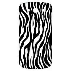 Zebra Stripes Pattern Traditional Colors Black White Samsung Galaxy S3 S Iii Classic Hardshell Back Case by EDDArt