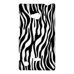Zebra Stripes Pattern Traditional Colors Black White Nokia Lumia 720 by EDDArt