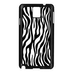 Zebra Stripes Pattern Traditional Colors Black White Samsung Galaxy Note 3 N9005 Case (black) by EDDArt