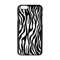 Zebra Stripes Pattern Traditional Colors Black White Apple Iphone 6/6s Black Enamel Case by EDDArt