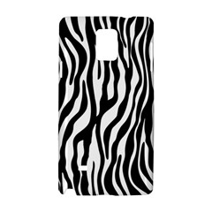 Zebra Stripes Pattern Traditional Colors Black White Samsung Galaxy Note 4 Hardshell Case by EDDArt