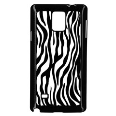 Zebra Stripes Pattern Traditional Colors Black White Samsung Galaxy Note 4 Case (black) by EDDArt