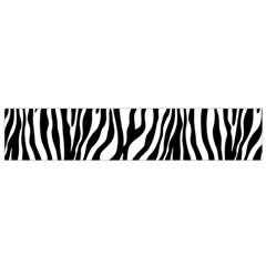 Zebra Stripes Pattern Traditional Colors Black White Flano Scarf (small) by EDDArt