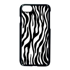 Zebra Stripes Pattern Traditional Colors Black White Apple Iphone 7 Seamless Case (black) by EDDArt