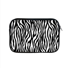 Zebra Stripes Pattern Traditional Colors Black White Apple Macbook Pro 15  Zipper Case by EDDArt