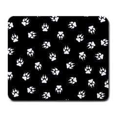 Footprints Dog White Black Large Mousepads by EDDArt