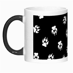 Footprints Dog White Black Morph Mugs by EDDArt