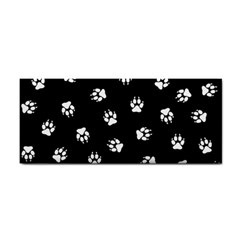 Footprints Dog White Black Cosmetic Storage Cases by EDDArt