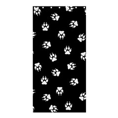Footprints Dog White Black Shower Curtain 36  X 72  (stall)  by EDDArt