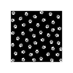 Footprints Dog White Black Acrylic Tangram Puzzle (4  X 4 ) by EDDArt