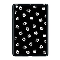 Footprints Dog White Black Apple Ipad Mini Case (black) by EDDArt
