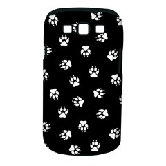 Footprints Dog White Black Samsung Galaxy S Iii Classic Hardshell Case (pc+silicone) by EDDArt