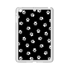 Footprints Dog White Black Ipad Mini 2 Enamel Coated Cases by EDDArt