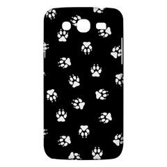 Footprints Dog White Black Samsung Galaxy Mega 5 8 I9152 Hardshell Case  by EDDArt