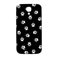 Footprints Dog White Black Samsung Galaxy S4 I9500/i9505  Hardshell Back Case by EDDArt