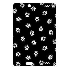 Footprints Dog White Black Amazon Kindle Fire Hd (2013) Hardshell Case by EDDArt