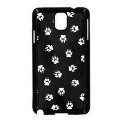 Footprints Dog White Black Samsung Galaxy Note 3 Neo Hardshell Case (black) by EDDArt