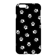 Footprints Dog White Black Apple Iphone 6 Plus/6s Plus Hardshell Case by EDDArt