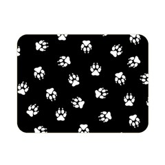 Footprints Dog White Black Double Sided Flano Blanket (mini)  by EDDArt