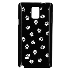 Footprints Dog White Black Samsung Galaxy Note 4 Case (black) by EDDArt