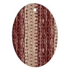 Wrinkly Batik Pattern Brown Beige Ornament (oval) by EDDArt