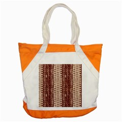 Wrinkly Batik Pattern Brown Beige Accent Tote Bag by EDDArt