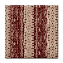 Wrinkly Batik Pattern Brown Beige Face Towel by EDDArt