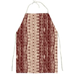 Wrinkly Batik Pattern Brown Beige Full Print Aprons by EDDArt