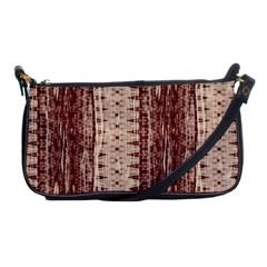 Wrinkly Batik Pattern Brown Beige Shoulder Clutch Bags by EDDArt