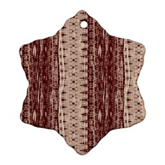 Wrinkly Batik Pattern Brown Beige Ornament (snowflake) by EDDArt
