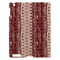 Wrinkly Batik Pattern Brown Beige Apple Ipad 3/4 Hardshell Case by EDDArt