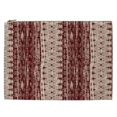 Wrinkly Batik Pattern Brown Beige Cosmetic Bag (xxl)  by EDDArt