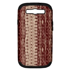 Wrinkly Batik Pattern Brown Beige Samsung Galaxy S Iii Hardshell Case (pc+silicone) by EDDArt
