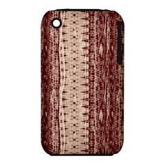 Wrinkly Batik Pattern Brown Beige Iphone 3s/3gs by EDDArt