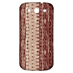 Wrinkly Batik Pattern Brown Beige Samsung Galaxy S3 S Iii Classic Hardshell Back Case by EDDArt