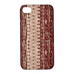 Wrinkly Batik Pattern Brown Beige Apple Iphone 4/4s Hardshell Case With Stand by EDDArt