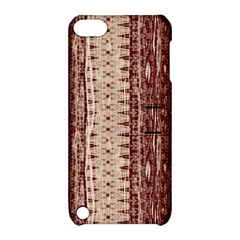 Wrinkly Batik Pattern Brown Beige Apple Ipod Touch 5 Hardshell Case With Stand by EDDArt