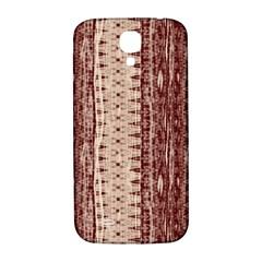 Wrinkly Batik Pattern Brown Beige Samsung Galaxy S4 I9500/i9505  Hardshell Back Case by EDDArt