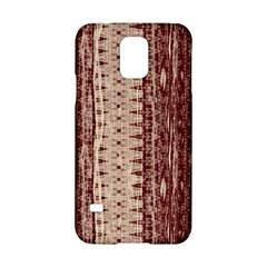 Wrinkly Batik Pattern Brown Beige Samsung Galaxy S5 Hardshell Case  by EDDArt