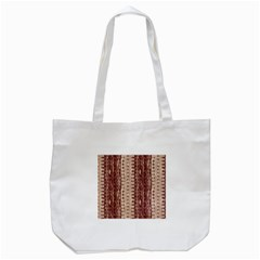 Wrinkly Batik Pattern Brown Beige Tote Bag (white) by EDDArt
