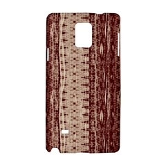 Wrinkly Batik Pattern Brown Beige Samsung Galaxy Note 4 Hardshell Case by EDDArt