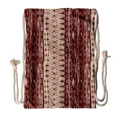 Wrinkly Batik Pattern Brown Beige Drawstring Bag (large) by EDDArt